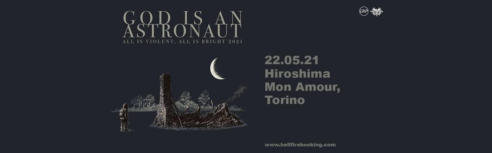 God is An Astronaut biglietti concerto 22 maggio 2021 Torino Hiroshima Mon Amour mailticket