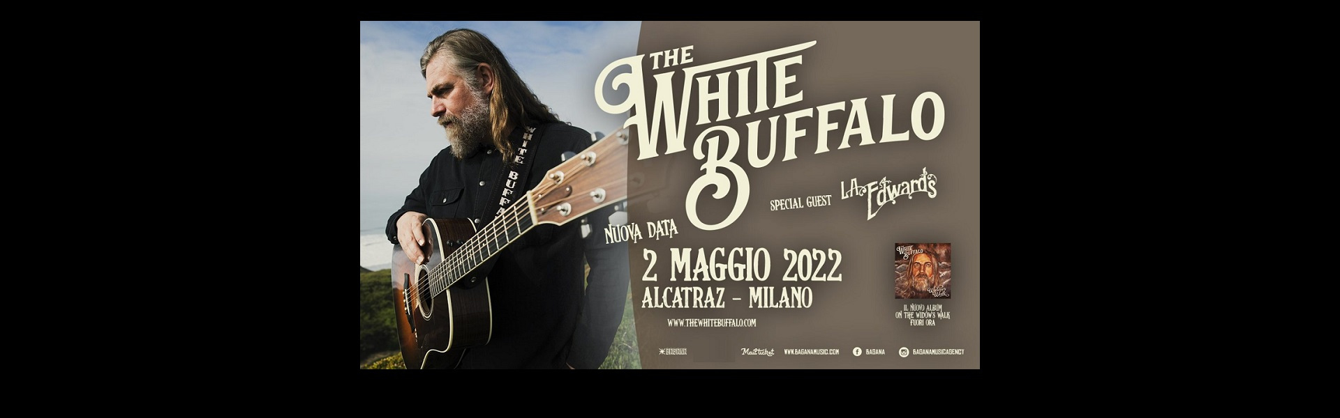 The White Buffalo Alcatraz Milano 02 maggio 2022 biglietti Mailticket