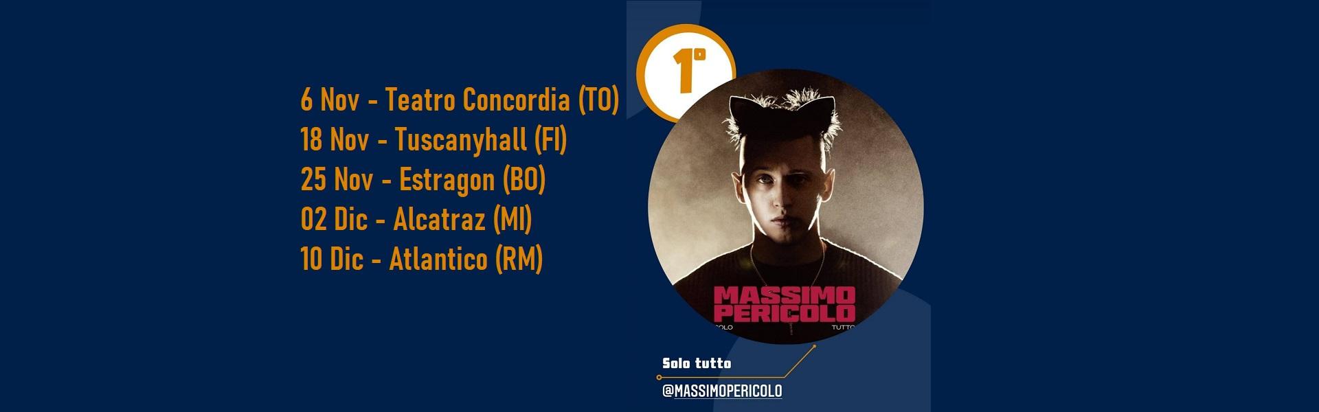 Massimo Pericolo Tour 2021 biglietti Mailticket